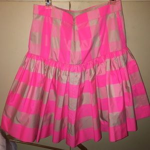 Jcrew fit & flare pink & tan gingham skirt size 6